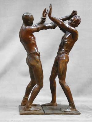 Darbaud_sculptures_lutteurs